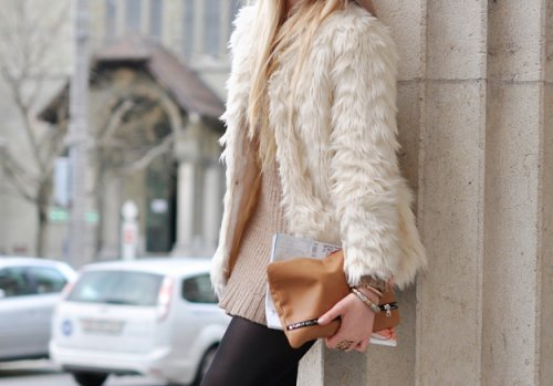 blonde, fashion, fur, girl, jacket