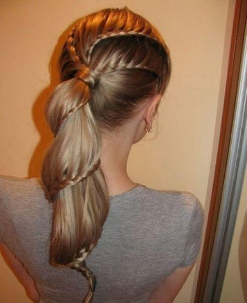 blonde, girl, girly, hair, trenza