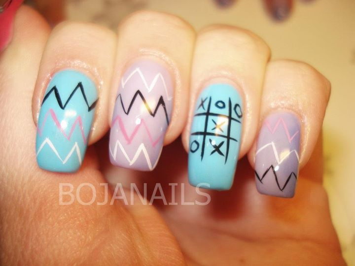blue, bojanails, cool, cute, fashion