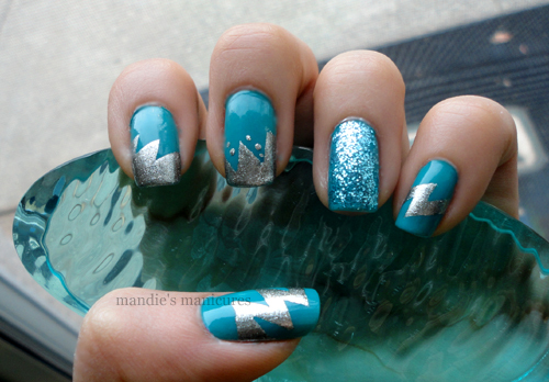 blue, brocade, colorful, colors, cute, electric, electric blue, fashion, fingernails, girly, glossy, manicure, nail art, nail painting, nail polish, nailart, nails, nails fashion, nails style, pattern, pretty, sea, silver, style