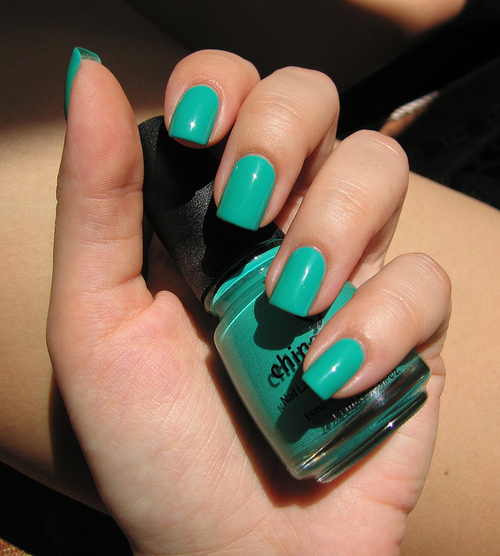 blue, china glaze, nail art, nail polish, nailpolish