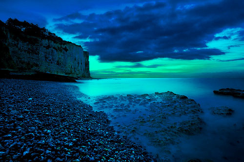 blue, cloud, clouds, landscape, ocean, photography, sea, sky, stone, turquoise, view, water