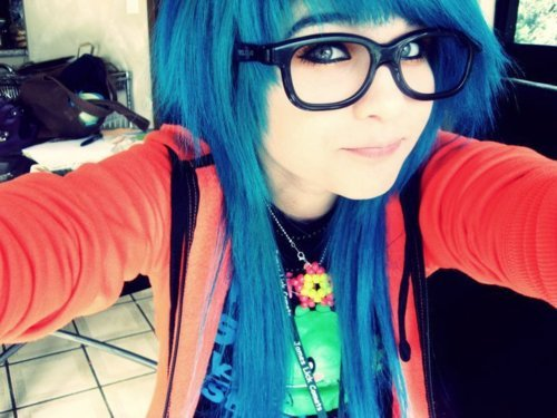 blue, colorful, cute, glasses, scene