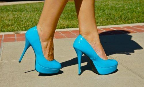 blue, cool, high heels, nice, pretty