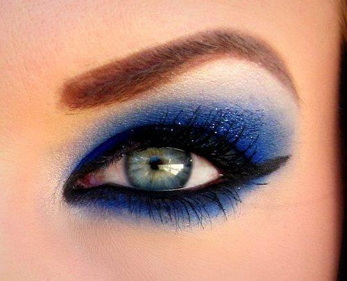 blue, cosmetics, cute, eye, eyebrow