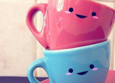 blue, cups, cute, pink