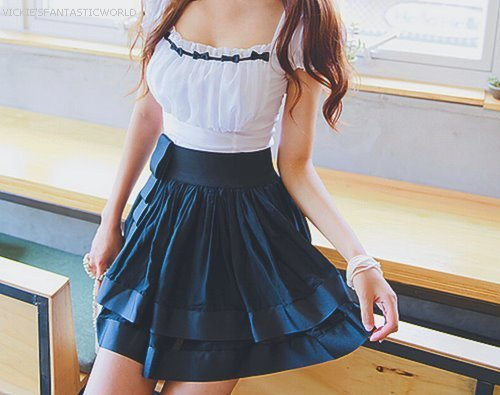 blue, cute, dress, fashion, girly, white