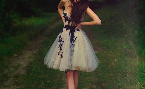 blue, cute, dress, fashion, grass, pretty, white