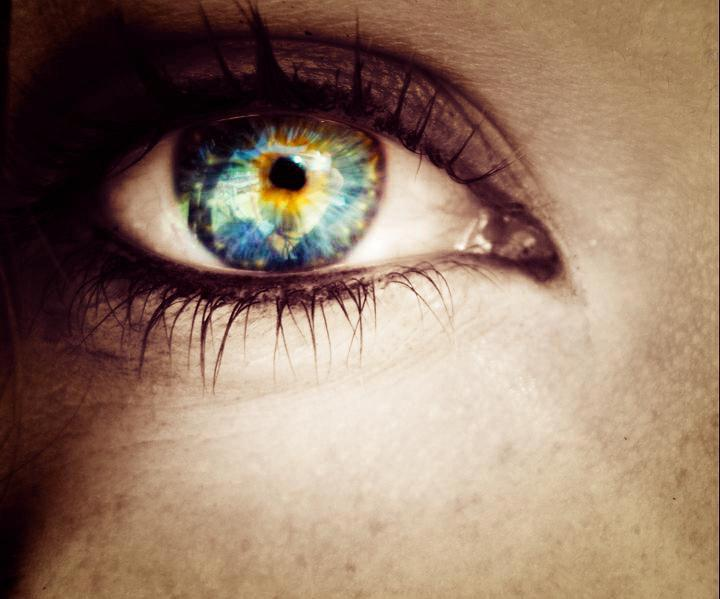 blue, eye, ocean, photoshop, sea