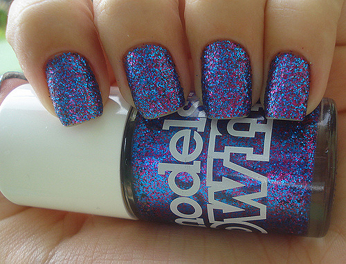 blue, glitter, gorgeous, nail polish, nails