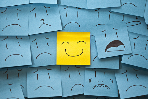 blue, happy, sad, smile, smileys, yellow
