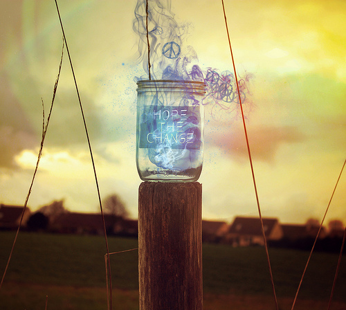 blue, hope, jar, photography, smoke