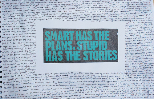blue, letter, paper, plans, quote, stories, stupid, text