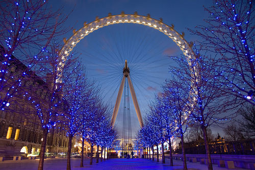 blue, london, london eye, theme park