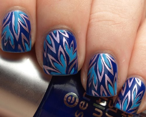 blue, nails, style