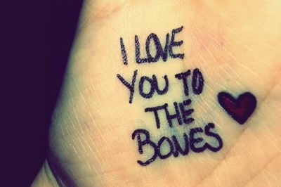 bones, heart, love, quotes