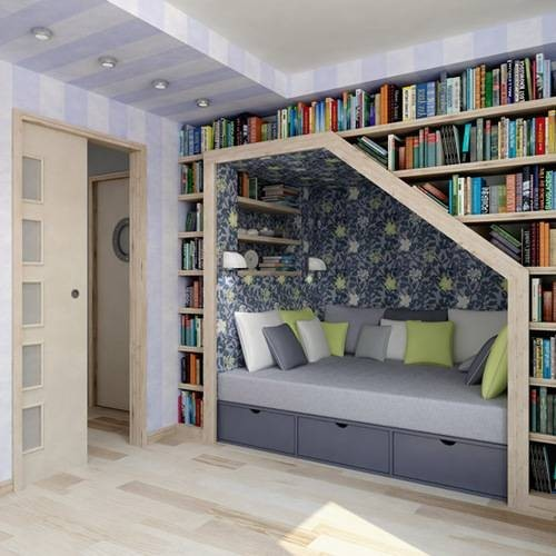 book case, books, nook
