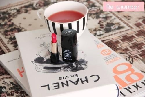 book, chanel, cute, fashion, lip stick, magazine, make up, perfect, tea, woman