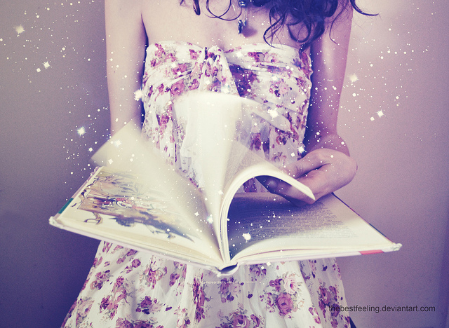 book, dream, fairy dust, girl, read