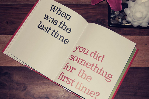 book, first time, las time, quote, something