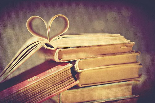 books, cute, heart, love, photography, vintage