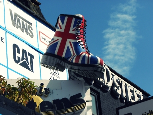 boot, british, candem, flag, london