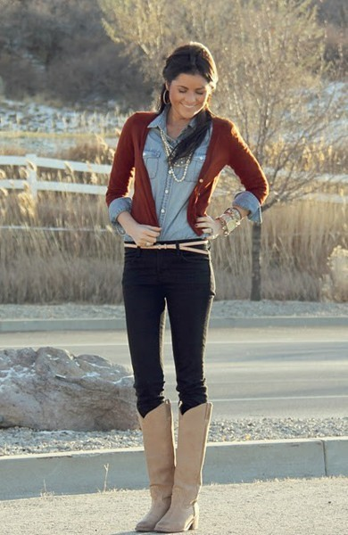 boots, cardigan, fashion, outfits, style