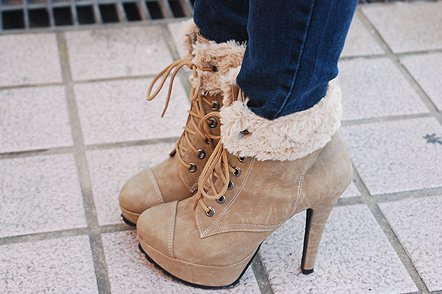 boots, fashion, fur, heels, shoes
