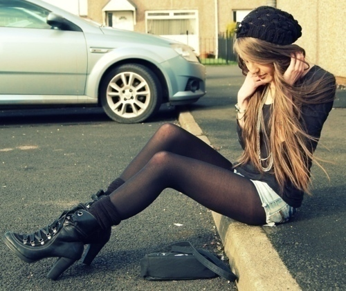 boots, fashion, girl, hair