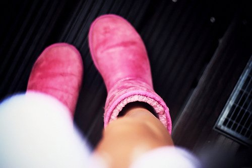 boots, fashion, glam, photography, pink, pretty, uggs, winter