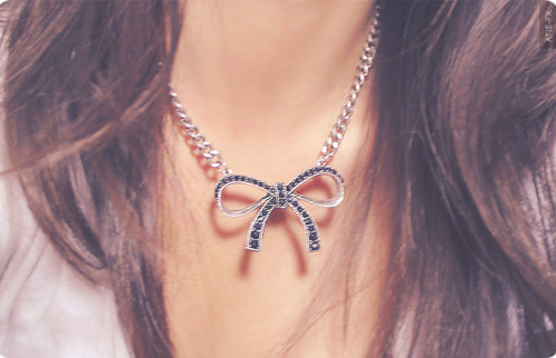 bow, charm, cute, fashion, girl, necklace
