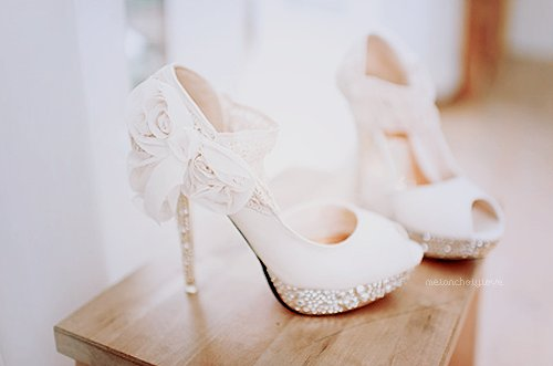 bow, crystals, cute, diamontes, girl, gorgeous!!!, heels, high heels, lace, omg! i want, pearls, pink, shoes, stunning, white