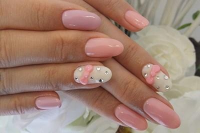 bow, cute, hands, nail art, nails