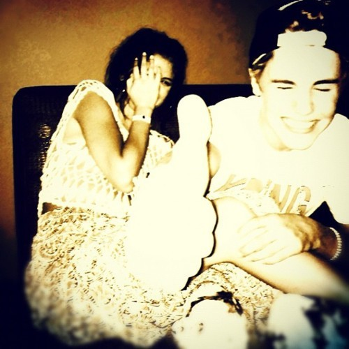 boy and girl, couple, cute, fun, funny, haha, instagram, jelena, jelenaforever, justin bieber, love, selena gomez, true love