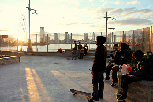boy, boys, city, friends, guys, new york, photography, skate, skateboard, skater, town