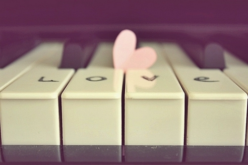 boy, color, colorful, cute, edge, fashion, girl, happy, heart, in love, love, music, nice, piano, pink, positive, retro, style, sweet, vintage