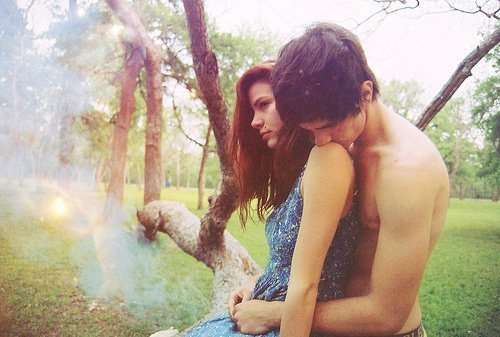 boy, couple, cute, friends, girl, hug, kiss, love, lovely, photography, vintage