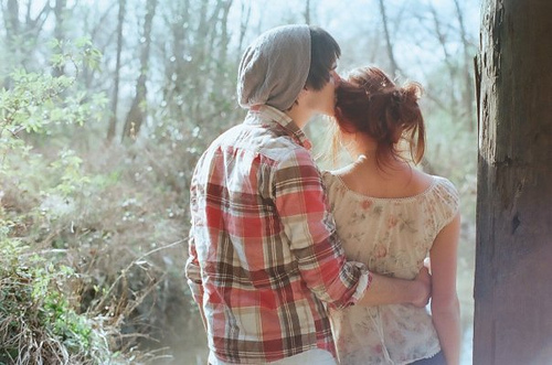 boy, couple, cute, girl, kiss