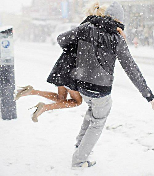 boy, couple, cute, girl, love, snow, snowing, winter