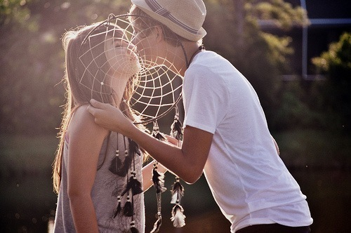 boy, couple, dreamcatcher, girl, kiss