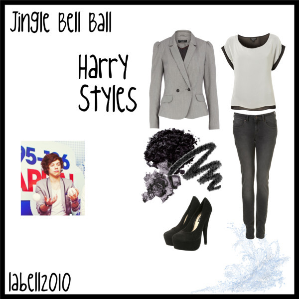 boys, harry styles, jingle bell ball, one direction, outfit