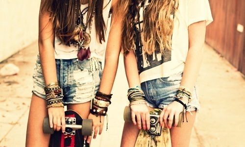 bracelet, bracelets, cool, edge, funk, girl, girls, hair, ladies, lady, love it, necklace, outside, pose, retro, ring, rings, shirts, shorts, style, vintage, woman, women