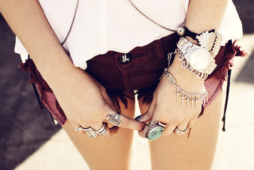 bracelet, bracelets, fashion, girl, legs, ring, rings, shorts, watch
