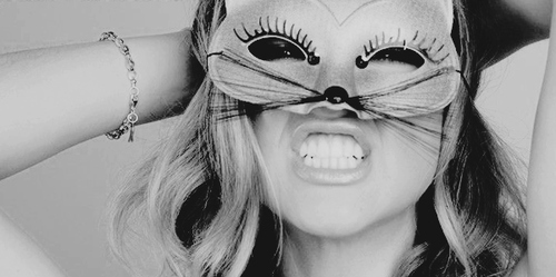 bracelet, cat, girl, mask, teeth