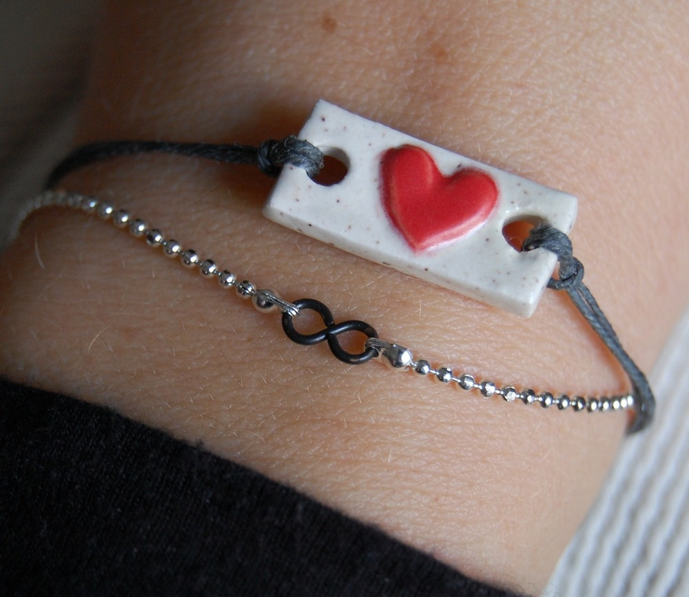 bracelet, ceramic, eternity, fashion, friendship