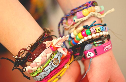 bracelets, color, girl, hands