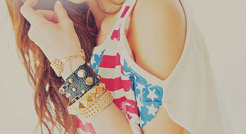 bracelets, fashion, girl