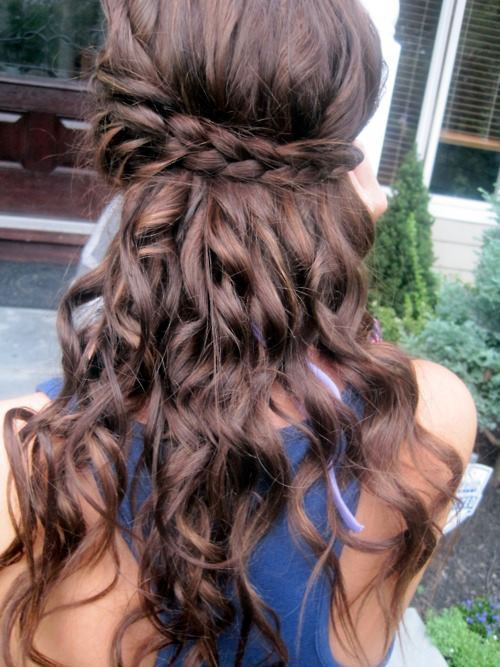 braid, braids, brown hair, curly, curly hair