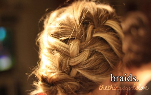 braid, hair, the things girls love