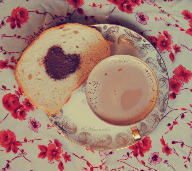breakfast, coffee, love, nutella, omnomnom